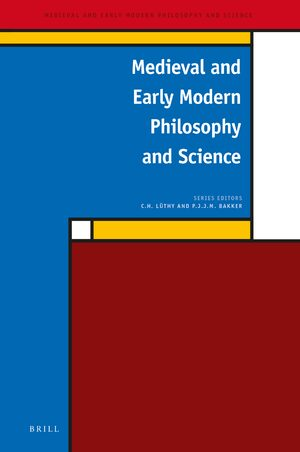 Cover Medieval and Early Modern Philosophy and Science