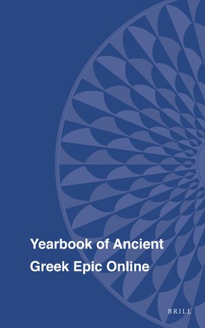 Cover Yearbook of Ancient Greek Epic Online