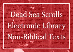 Cover Dead Sea Scrolls Electronic Library Non-Biblical Texts