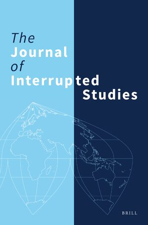 Cover The Journal of Interrupted Studies