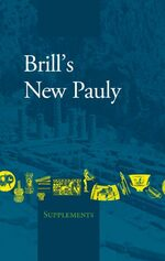 Cover Brill's New Pauly - Supplements