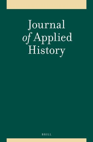 Cover Journal of Applied History