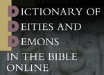 Cover Dictionary of Deities and Demons in the Bible Online