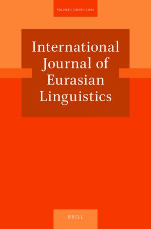 Cover International Journal of Eurasian Linguistics