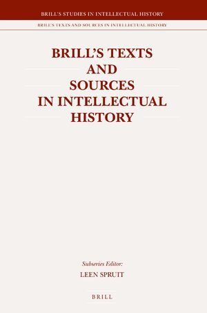 Cover Brill's Texts and Sources in Intellectual History