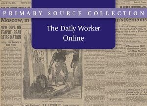 Cover The Daily Worker Online