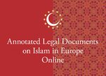 Cover Annotated Legal Documents on Islam in Europe Online