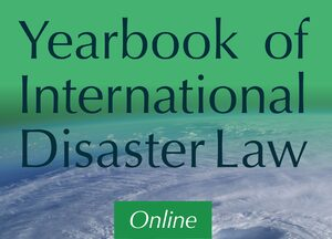 Cover Yearbook of International Disaster Law Online