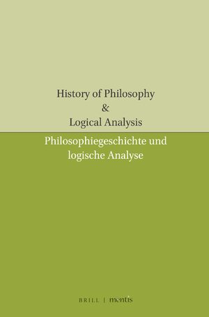 Cover History of Philosophy & Logical Analysis
