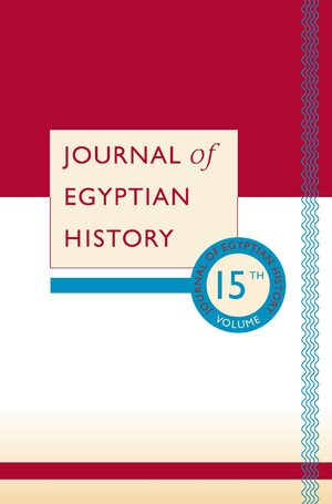 Cover Journal of Egyptian History