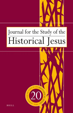 Cover Journal for the Study of the Historical Jesus