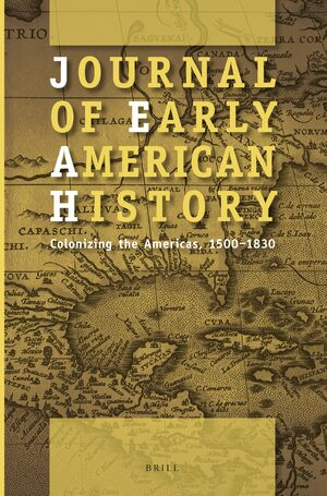Cover Journal of Early American History