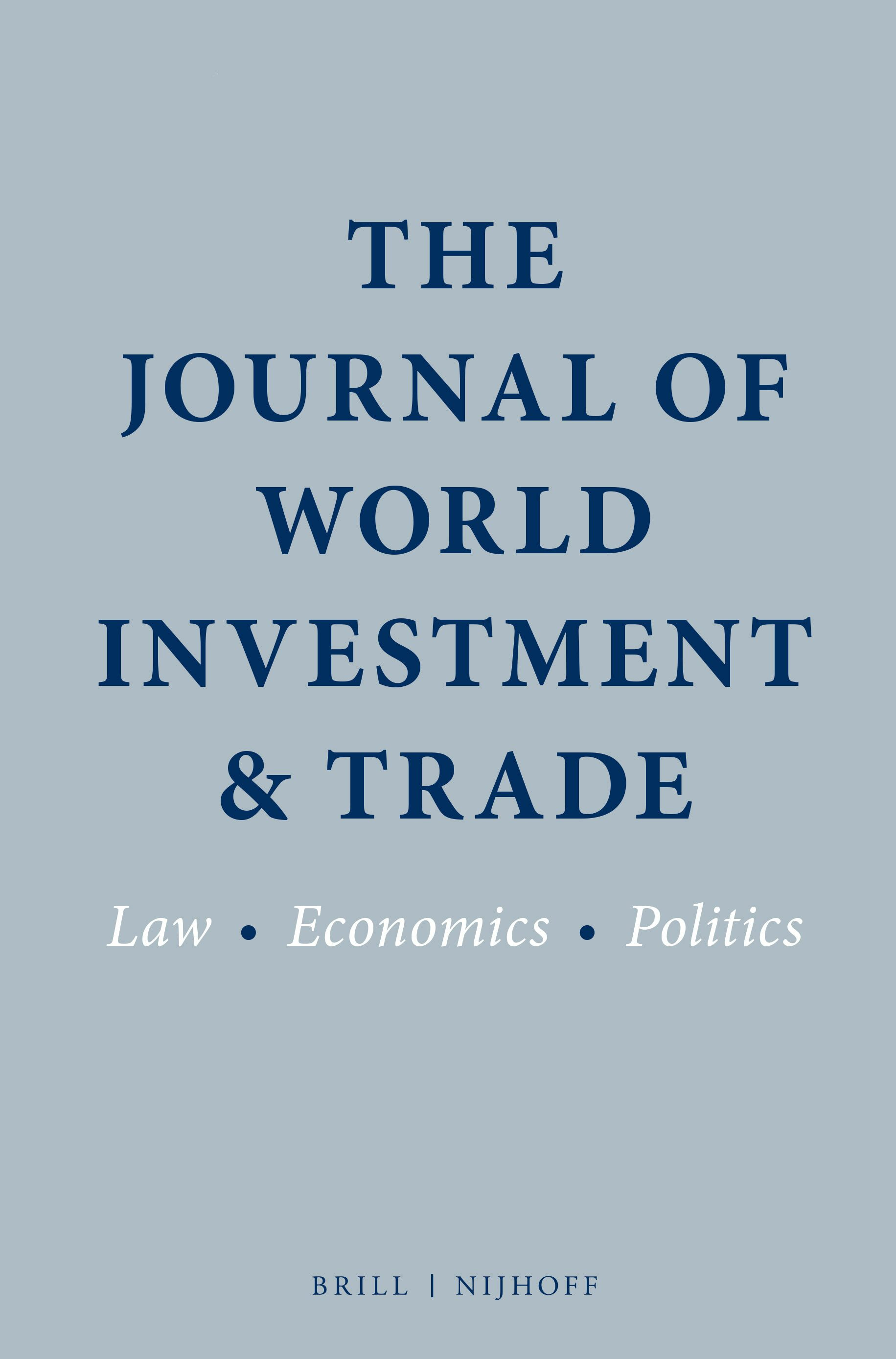 journal of world trade and investment laws