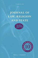 Cover Journal of Law, Religion and State