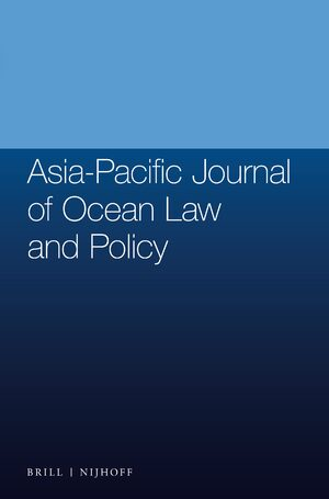 Cover Asia-Pacific Journal of Ocean Law and Policy