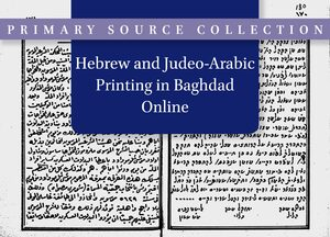 Cover Hebrew and Judeo-Arabic Printing in Baghdad Online