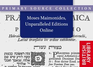 Cover Moses Maimonides, Unparalleled Editions Online