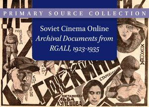 Cover Soviet Cinema Online. Archival Documents from RGALI, 1923-1935