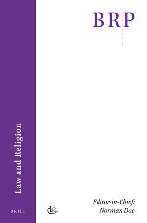 Cover Brill Research Perspectives in Law and Religion