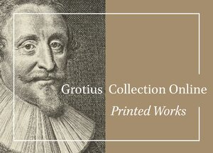 Cover Grotius Collection Online: Printed Works