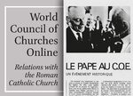 Cover World Council of Churches Online: Relations with the Roman Catholic Church