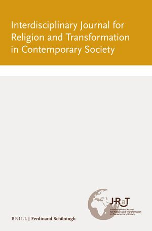 Cover Interdisciplinary Journal for Religion and Transformation in Contemporary Society