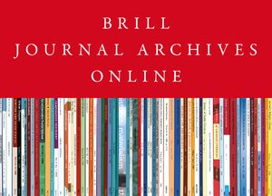 Cover Brill Journal Archives Online Part 1: BRILL Collection 2020