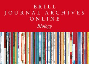 Cover Brill Journal Archives Part 1: Sciences Collection 2020