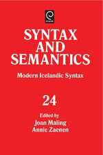 Cover Modern Icelandic Syntax