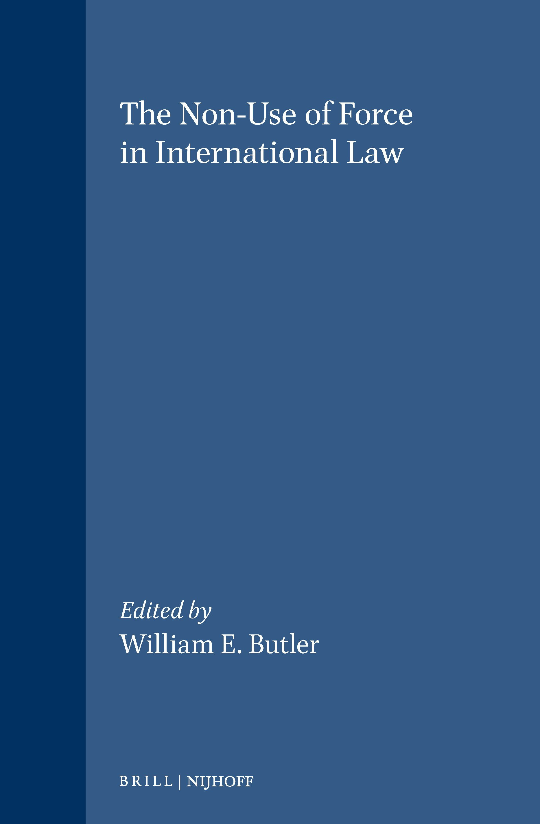 Non-Use of Force in International Law