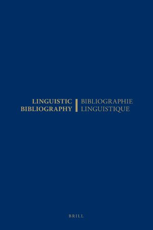 Linguistic Bibliography for the Year 1987 / Bibliographie Linguistique de l'année 1987