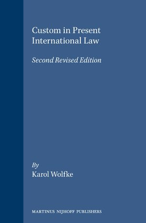 Cover Custom in Present international Law