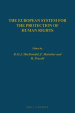 Cover The European System for The Protection of Human Rights