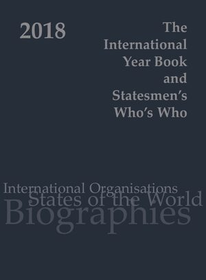 Cover International Year Book & Statesmen's Who's Who 2018