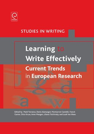 Cover Learning to Write Effectively: Current Trends in European Research