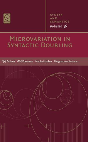 Cover Microvariation in Syntactic Doubling