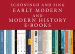 Cover Schöningh and Fink Early Modern and Modern History E-Books Online, Collection 2013-2017