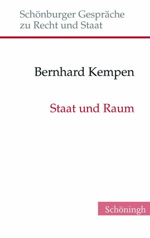 Cover Staat und Raum