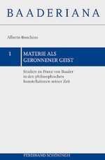 Cover Materie als geronnener Geist