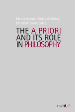 Cover The A Priori and Its Role in Philosophy