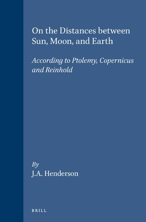 Cover On the Distances between Sun, Moon, and Earth