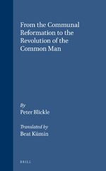 Cover From the Communal Reformation to the Revolution of the Common Man