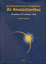Cover An Annotated Census of Copernicus' De revolutionibus