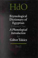 Cover Etymological Dictionary of Egyptian, Volume 1