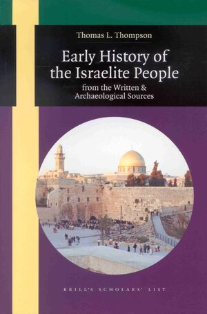 Cover Early History of the Israelite People
