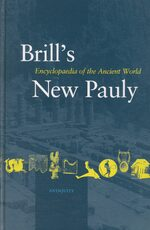 Cover Brill's New Pauly, Antiquity, Volume 1 (A - Ari)