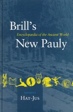 Cover Brill's New Pauly, Antiquity, Volume 6 (Hat-Jus)