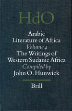 Cover Arabic Literature of Africa, Volume 4 Writings of Western Sudanic Africa