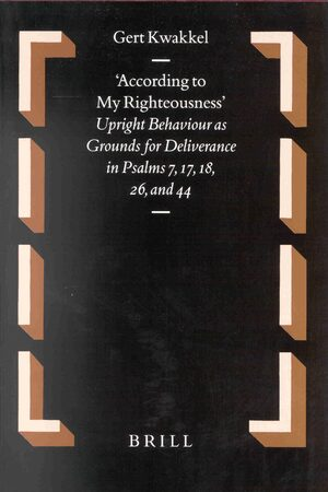 Cover According to my Righteousness