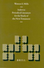 Cover Index to Periodical Literature for the Study of the New Testament